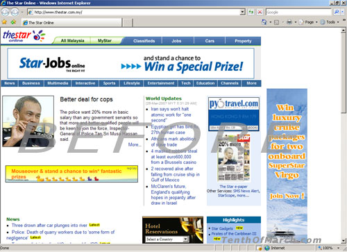 The Star Website (Before)