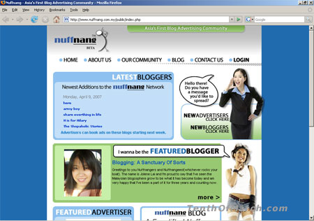 Nuffnang Brand New Look