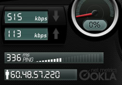 Streamyx speed test
