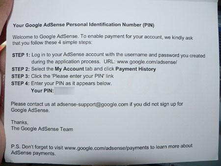 Adsense card content
