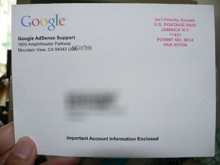 Adsense card front