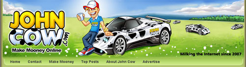 John Cow new theme header