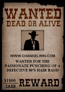 ChanKelwin.com wanted dead or alive for $1800 cash