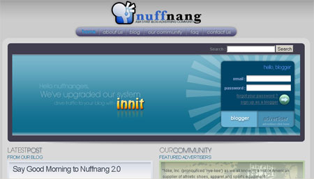 Welcome to Nuffnang 2.0